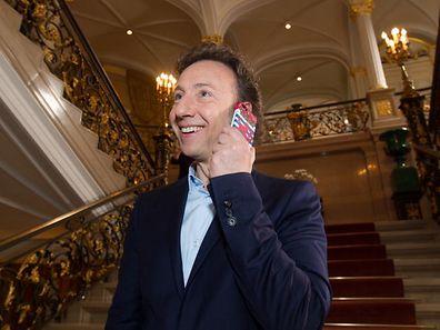 Stéphane Bern au palais grand-ducal lors du tournage de son émission sur la grande-duchesse Charlotte.
