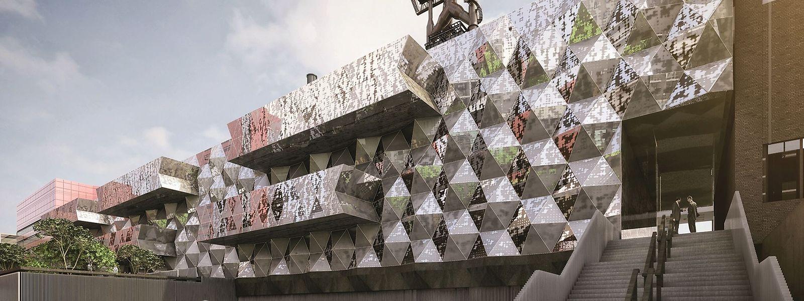 So soll die zukünftige Universitätsbibliothek in Belval aussehen.