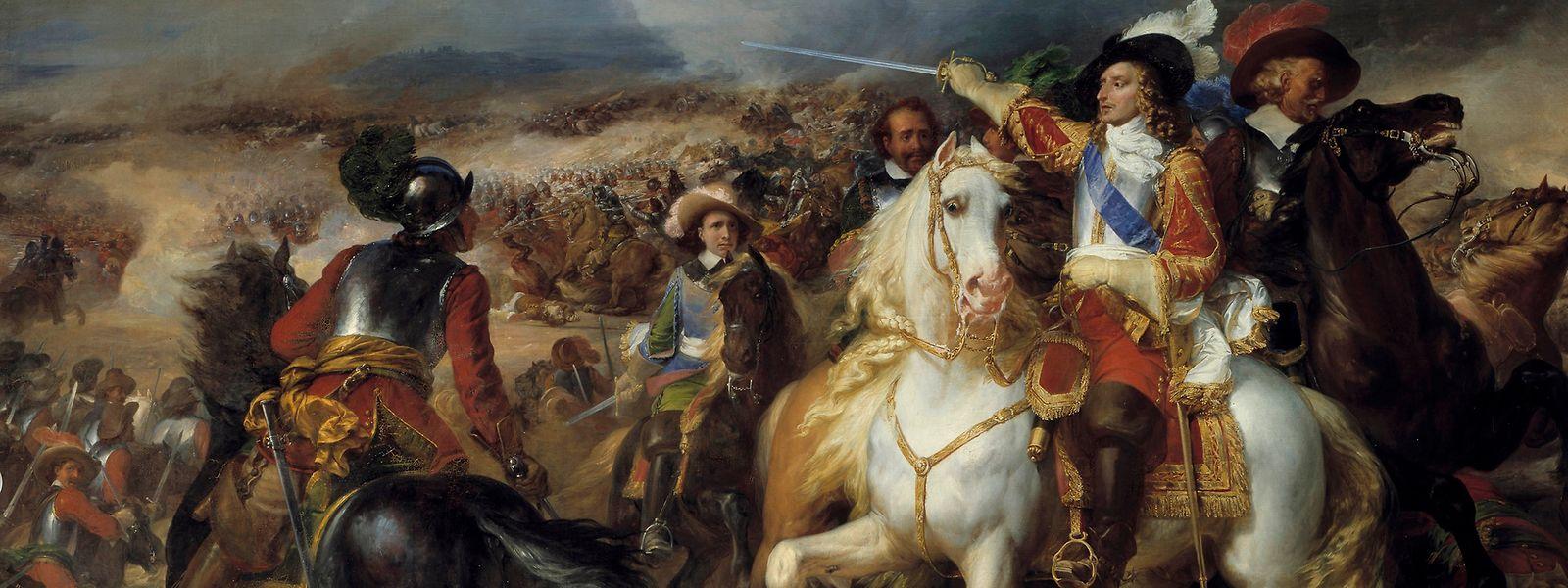 Der Prinz von Condé im Jahr 1648 in der Schlacht bei Lens. Bei diesem Kampf zwischen französischen und spanischen Truppen wurde der Luxemburger Provinzgouverneur Johann von Beck verletzt.