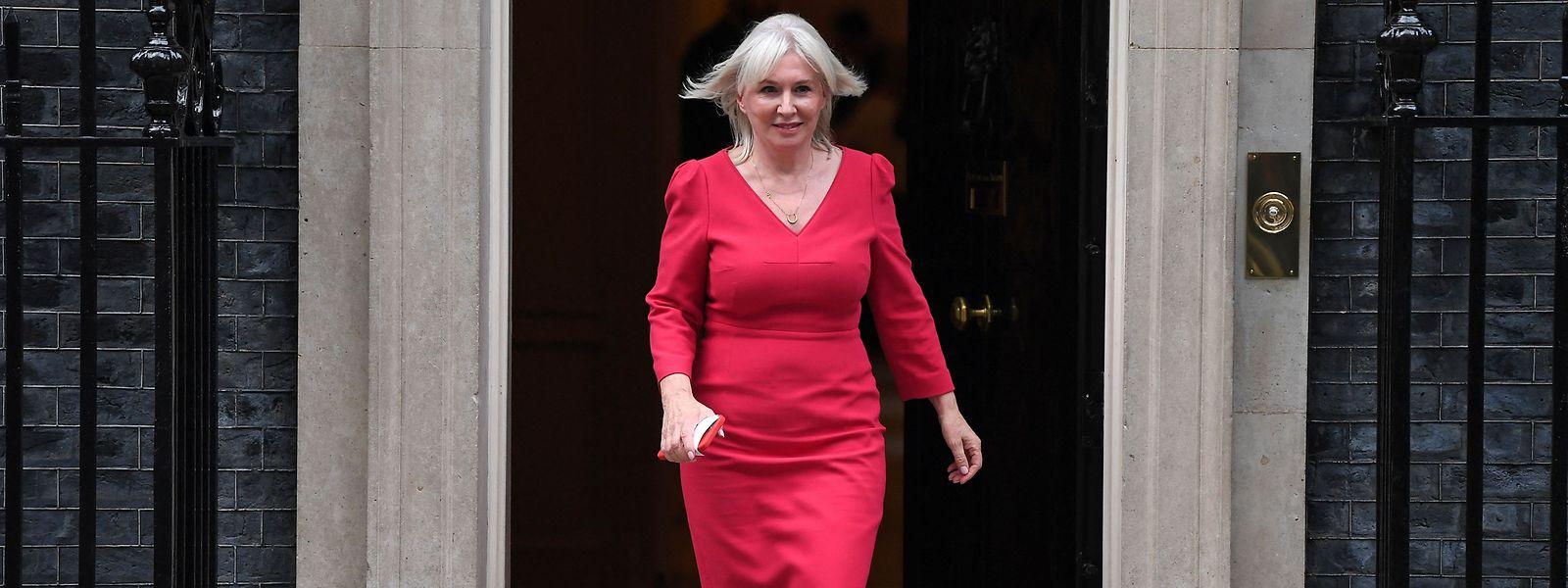 Die neue britische Kulturministerin Nadine Dorries nach ihrer Beförderung.