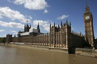 (FILES) In this file photo taken on September 08, 2016 Scaffoldings is seen on top of the Palace of Westminster which houses the Houses of Parliament in central London on September 8, 2016. - Prime Minister Boris Johnson on August 28, 2019 announced the suspension of parliament in the final weeks before Britain's EU departure date, outraging the speaker and anti-Brexit MPs. (Photo by Daniel LEAL-OLIVAS / AFP)
