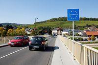 Grenzuebergang in Schengen