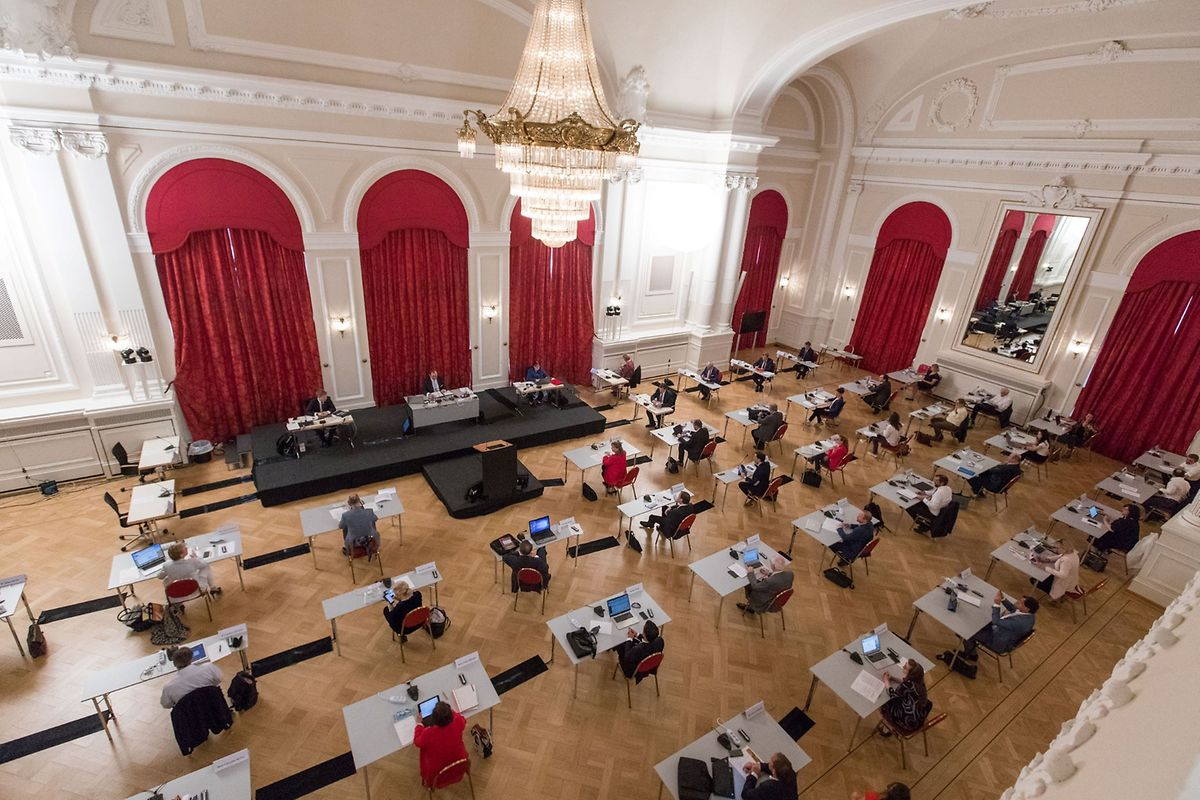 Luxembourg's parliament meeting last year at its temporary home in the Cercle Cite conference centre