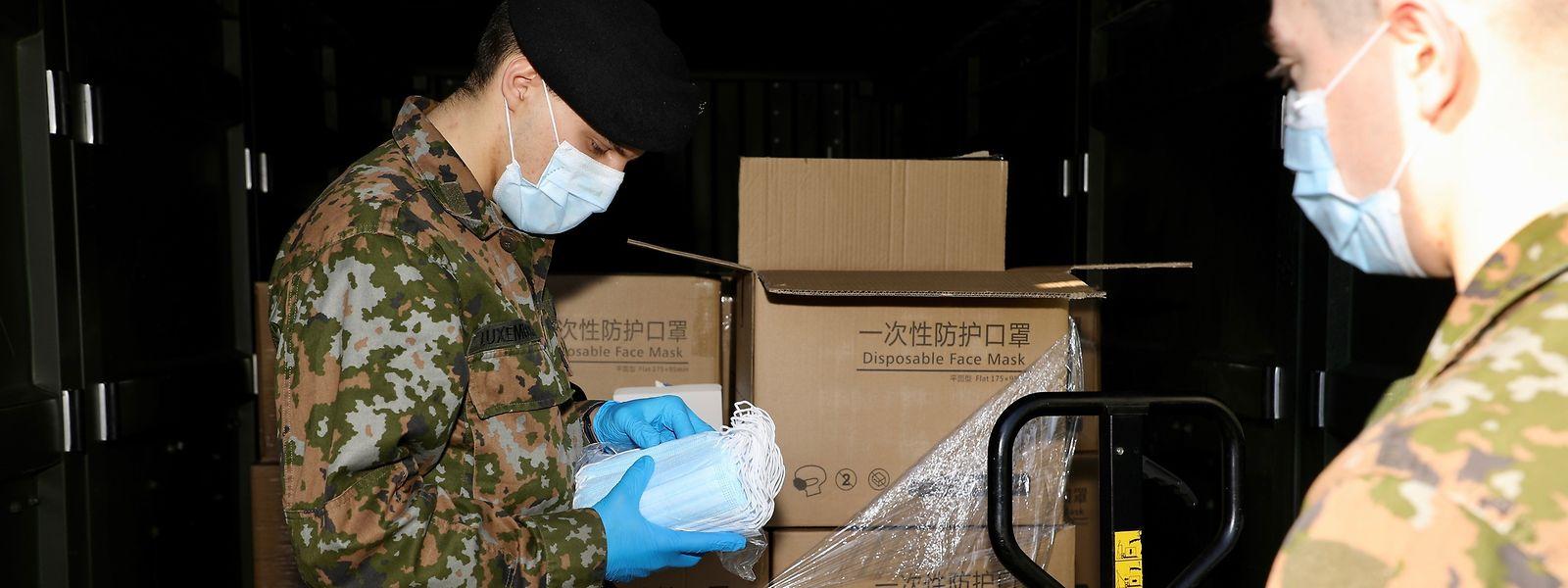 L'armée avait déjà été employée pour assurer la distribution des masques aux artisans luxembourgeois.