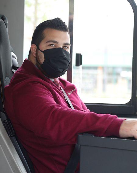 Pour Filipe Rodrigues, son métier de chauffeur de bus a quelque peu perdu de sa convivialité.