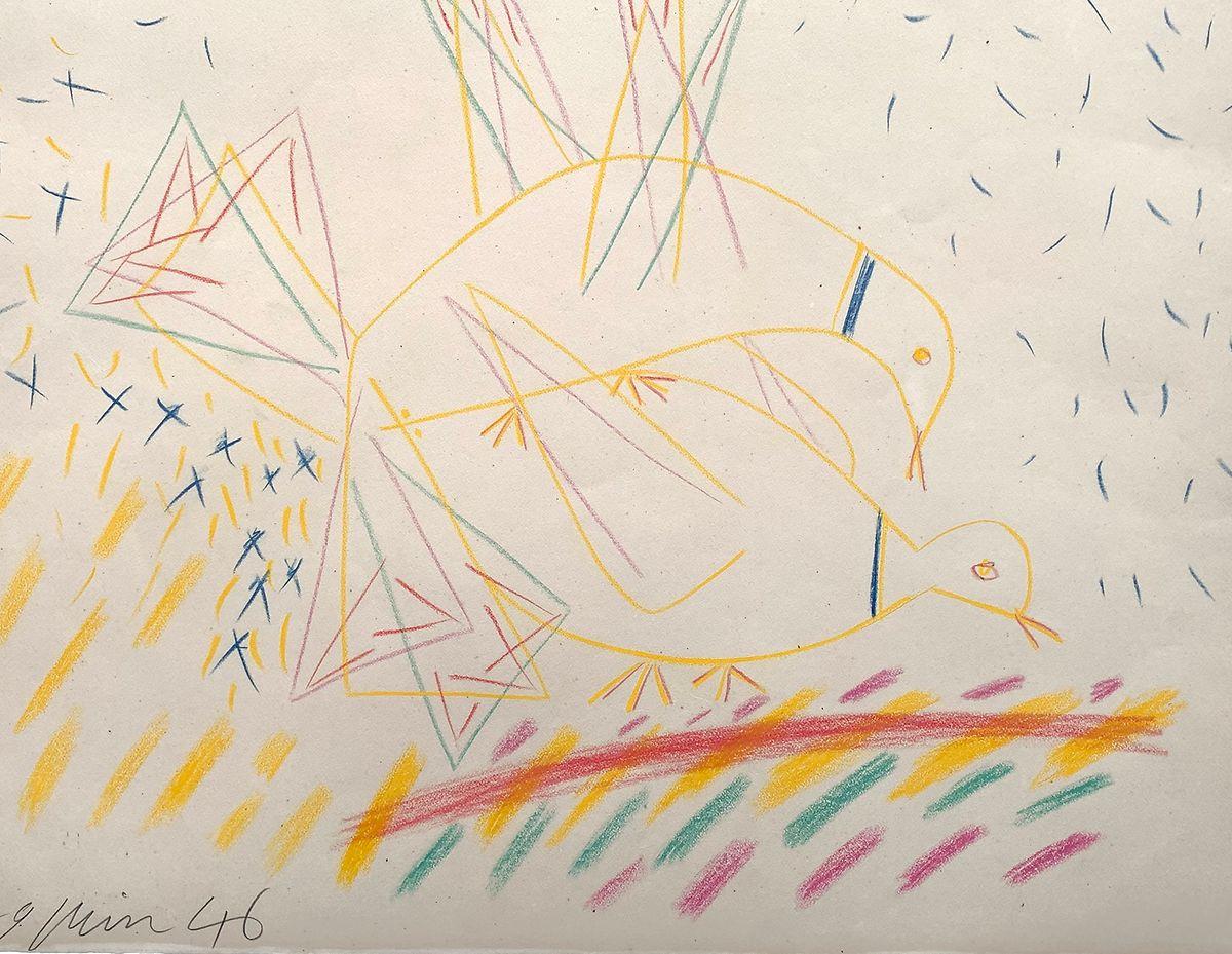 As pombas, um dos milhares de desenhos de Picasso, poderá ser adquirido, na Luxembourg Art Fair, entre 5 e 8 de dezembro.