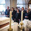 Família grã-ducal na homenagem ao Grão-Duque Jean.