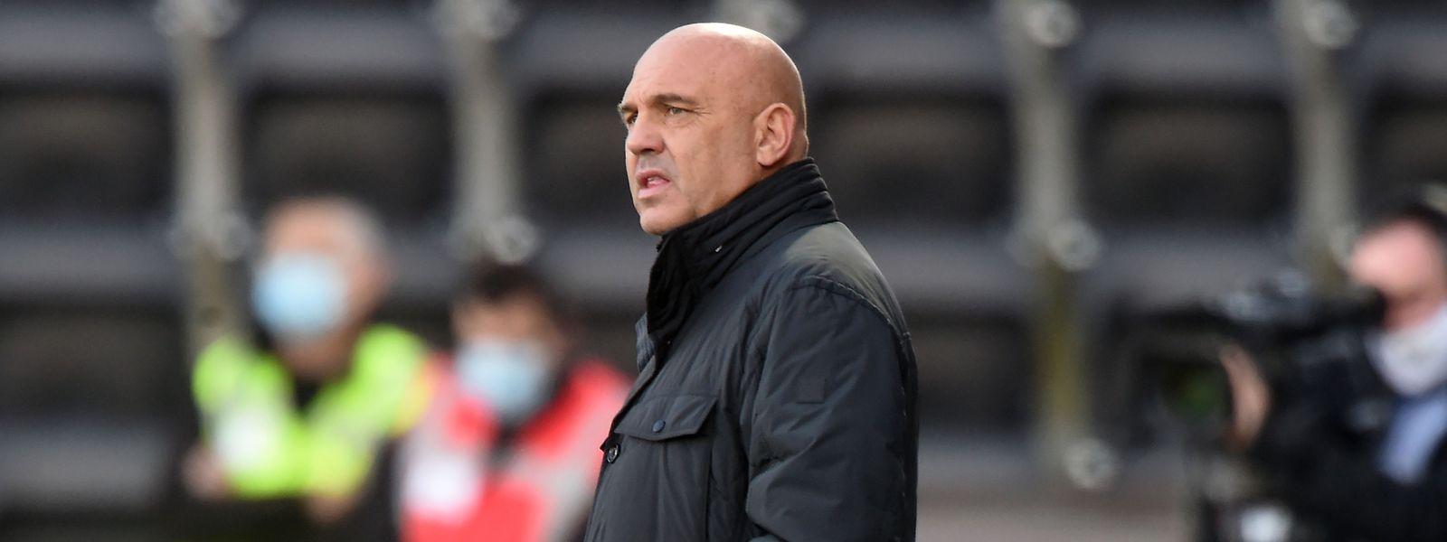 Fréderic Antonetti a retrouvé le banc du FC Metz à l'occasion du déplacement des Grenats à Angers.