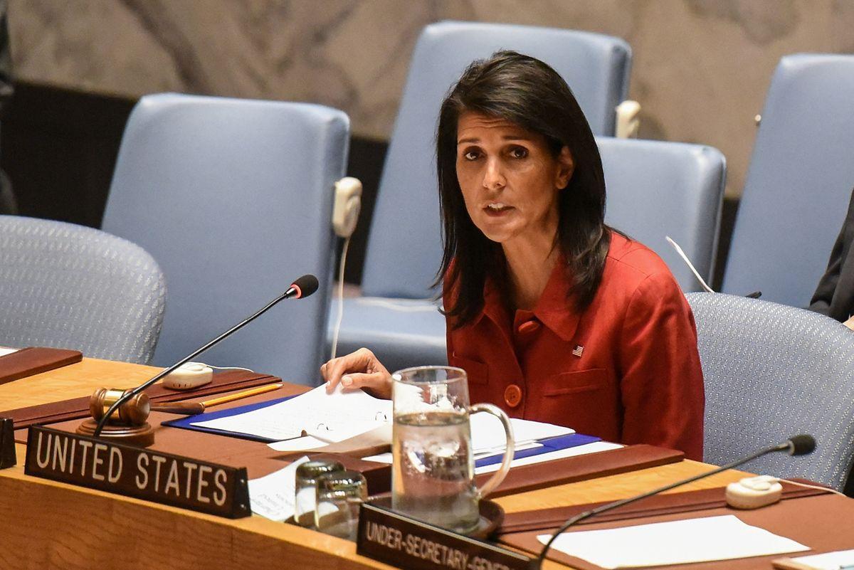 Nikki Haley ist Botschafterin der Vereinigten Staaten bei den Vereinten Nationen