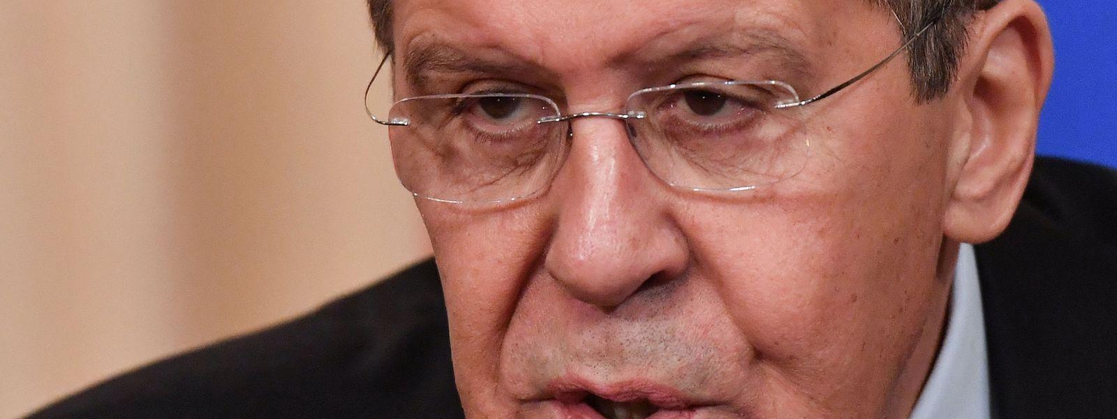 Sergei Lavrov, ministro russo dos Negócios Estrangeiros.