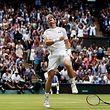 """Unbändige Freude: Andy Murray gewinnt sein """"Heimspiel""""."""