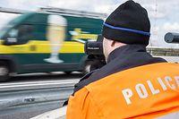 Opération européenne contre les excès de vitessse,Polizei,Verkehrskontrolle,Radar. Foto:Gerry Huberty