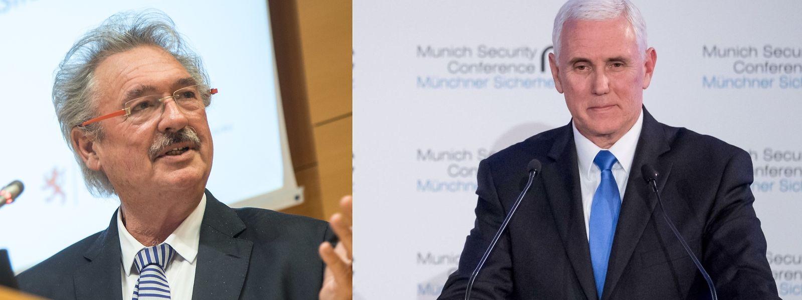 Jean Asselborn a eu du mal à écouter Mike Pence faire l'éloge de son président