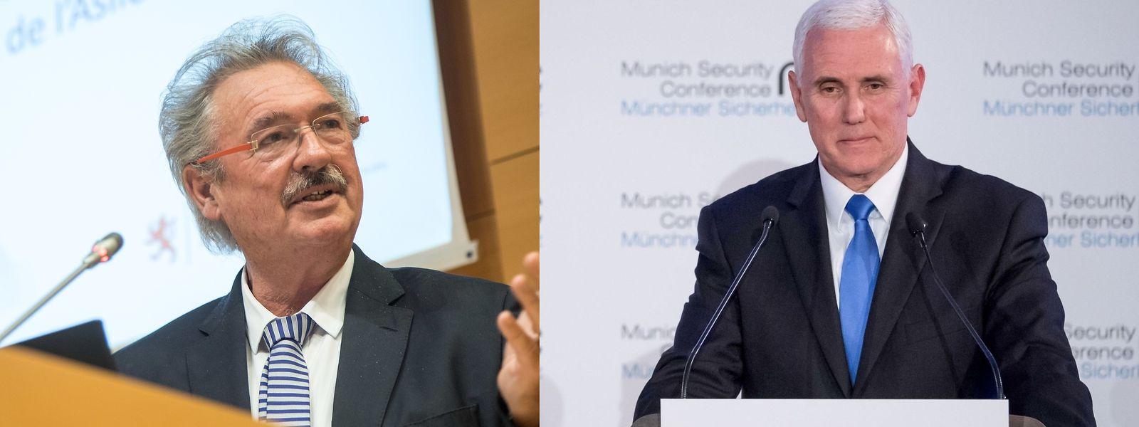 Jean Asselborn kommentiert Mike Pence's Auftritt bei der Münchener Sicherheitskonferenz.
