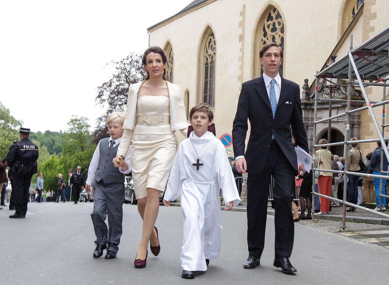 Le prince Louis et la princesse Tessy et leurs enfants, les princes Gabriel et Noah