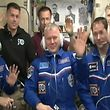 "This image obtained November 19, 2016 courtesy of NASA TV shows NASA astronaut Peggy Whitson (L), Oleg Novitskiy (C) of the Russian space agency Roscosmos, and Frenchman Thomas Pesquet (R) of ESA (European Space Agency) waving after docking at the International Space Station.  The trio -- Frenchman Thomas Pesquet, Russian cosmonaut Oleg Novitskiy and American astronaut Peggy Whitson -- launched from the Baikonur Cosmodrome in Kazakhstan on Thursday, November 17, 2016.  Pesquet, 38, a rookie astronaut and amateur saxophone player, is the first French national to be sent to the ISS by the European Space Agency since 2008.   / AFP PHOTO / NASA TV / Douglas CURRAN / RESTRICTED TO EDITORIAL USE - MANDATORY CREDIT ""AFP PHOTO / NASA TV"" - NO MARKETING NO ADVERTISING CAMPAIGNS - DISTRIBUTED AS A SERVICE TO CLIENTS"