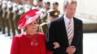 Grand Duchess Maria Teresa wears an elegant and minimalistic creation.