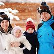 Britain's Prince William and his wife Catherine, Duchess of Cambridge, pose with their children Princess Charlotte and Prince George (2nd R), during their skiing break in the French Alps, in this pool photograph dated March 3, 2016, and released in London March 7, 2016.   REUTERS/John Stillwell/pool  TPX IMAGES OF THE DAY NO COMMERCIAL OR BOOK SALES. NO SALES. FOR EDITORIAL USE ONLY. NOT FOR SALE FOR MARKETING OR ADVERTISING CAMPAIGNS.