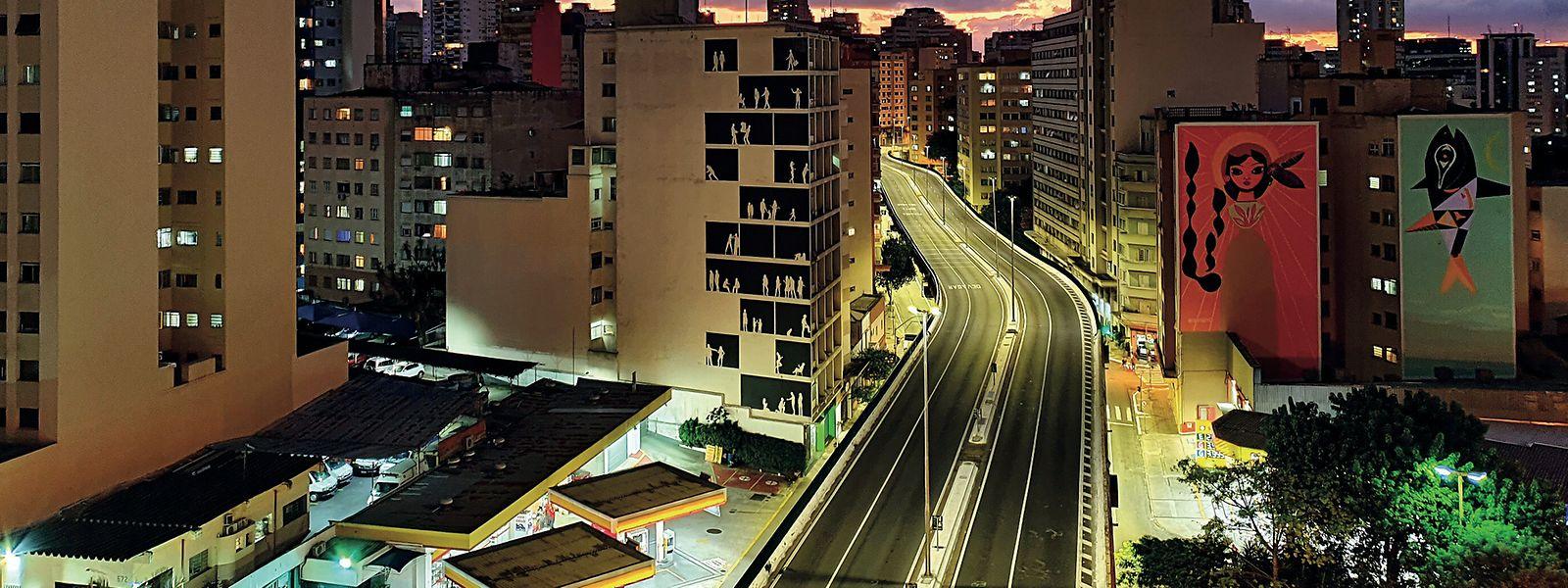 Verwaiste Metropole - Blick auf die brasilianische Millionenstadt São Paulo.