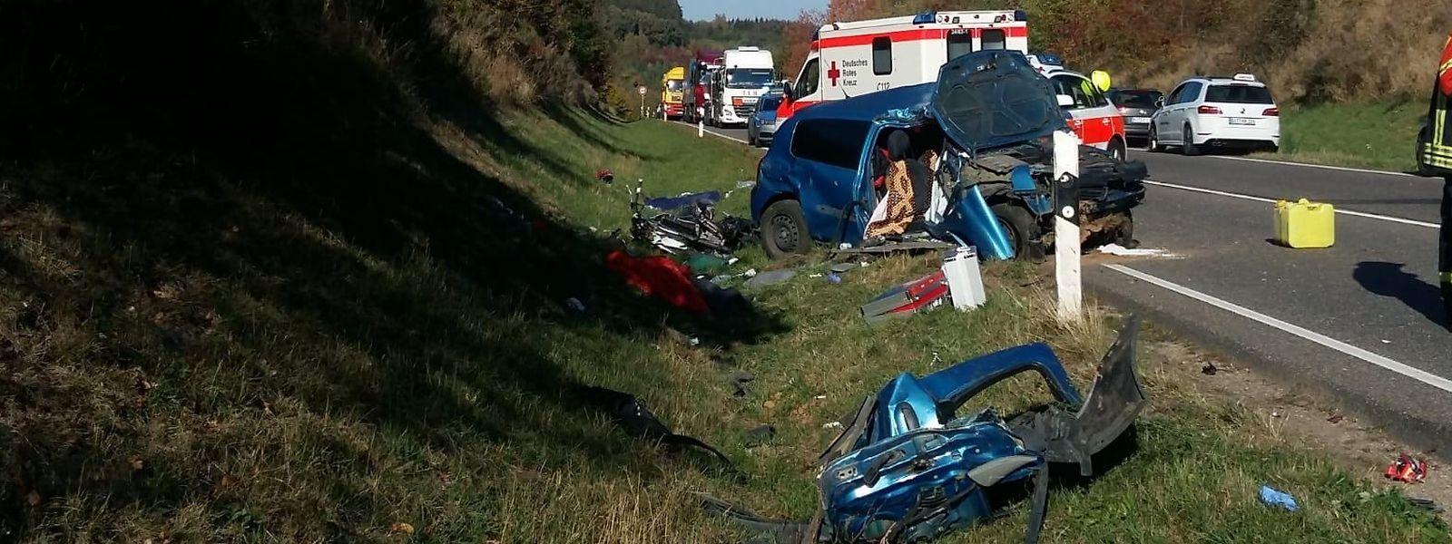 Das in Luxemburg zugelassene Fahrzeug geriet aus noch ungeklärter Ursache auf die Gegenfahrbahn.