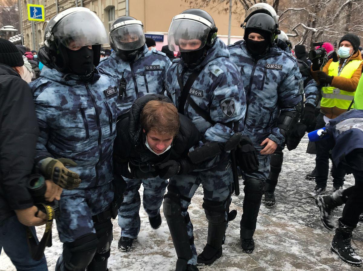 Nawalnys Unterstützer haben das zweite Wochenende infolge landesweit zu Protesten aufgerufen.
