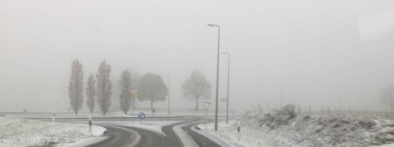 A Wiltz, ce dimanche matin, la neige a fait son apparition