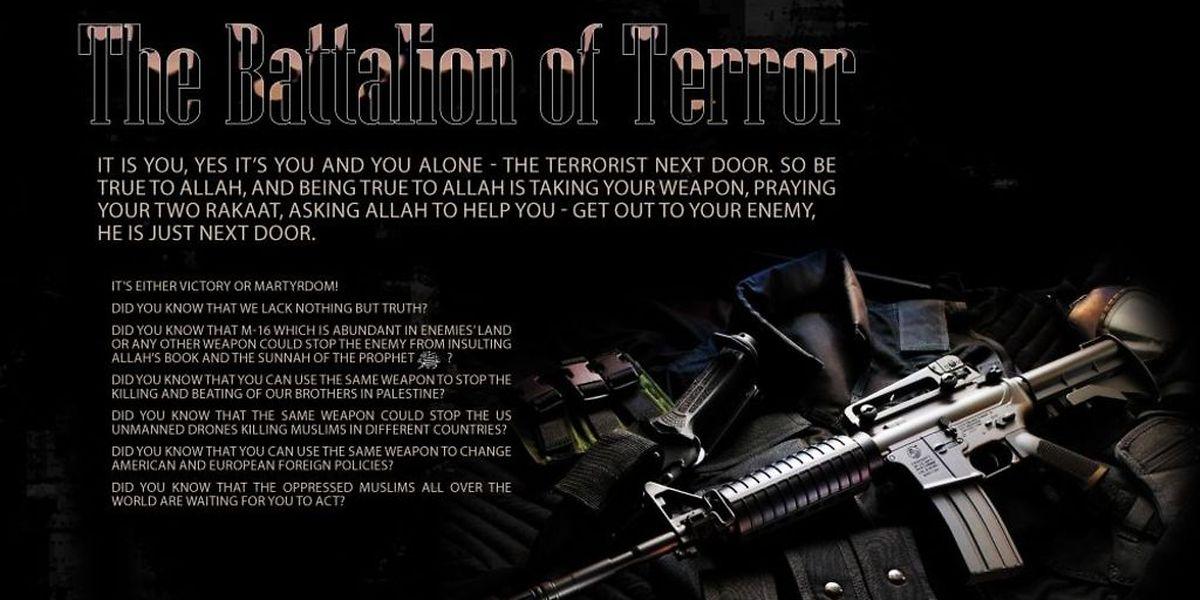 """Werbung für angehende Terroristen: Propaganda aus """"Inspire"""", einem Magazin in elektronischer Form, das Al Kaida nahesteht und junge Menschen auf Englisch in die Methoden des radikalen Dschihadismus einführen soll – inklusive Anleitung zum Bombenbau."""