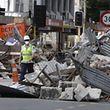 Trümmerberge in der Innenstadt von Christchurch.