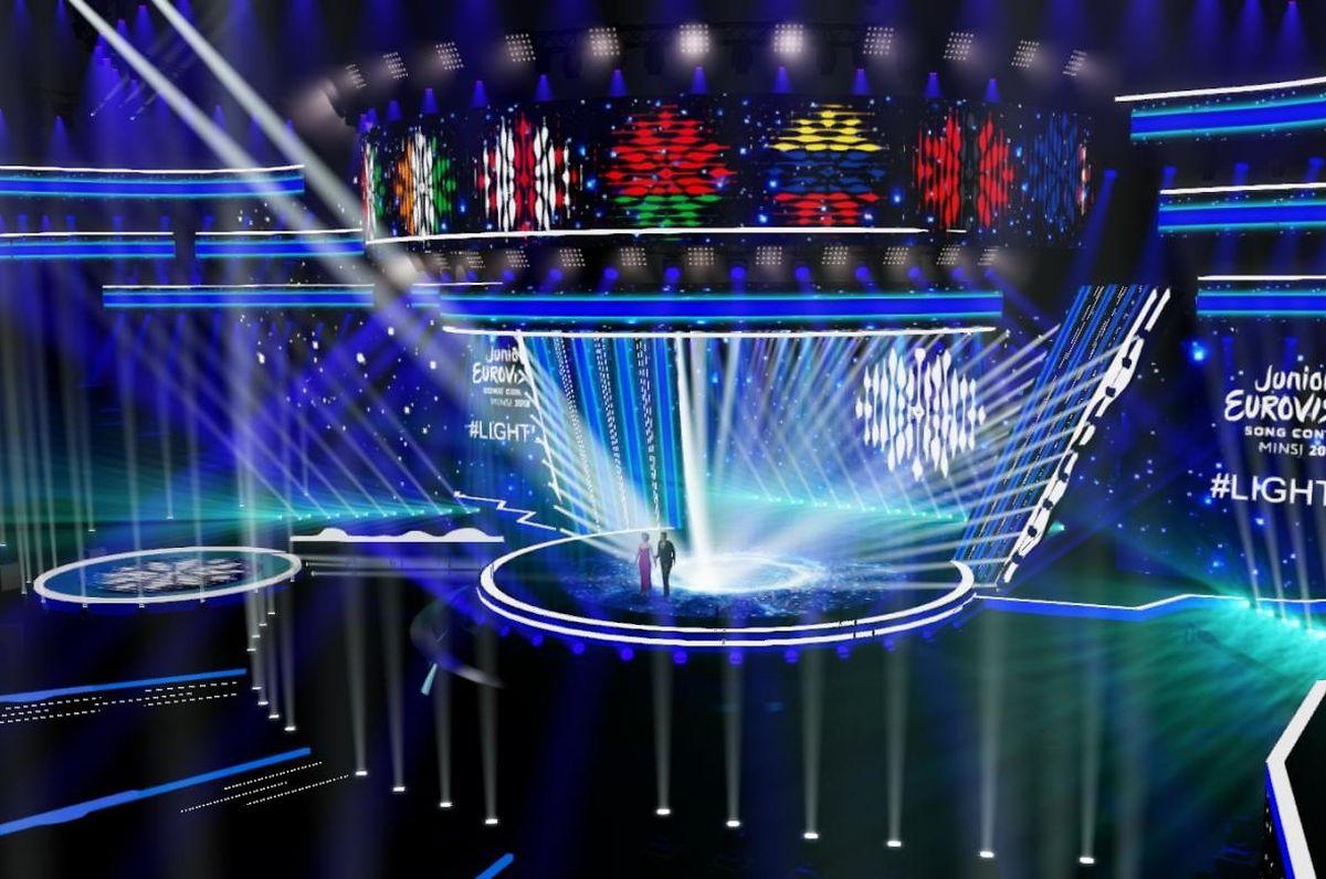 Projeto do palco do JESC 2018, que terá lugar em Minsk