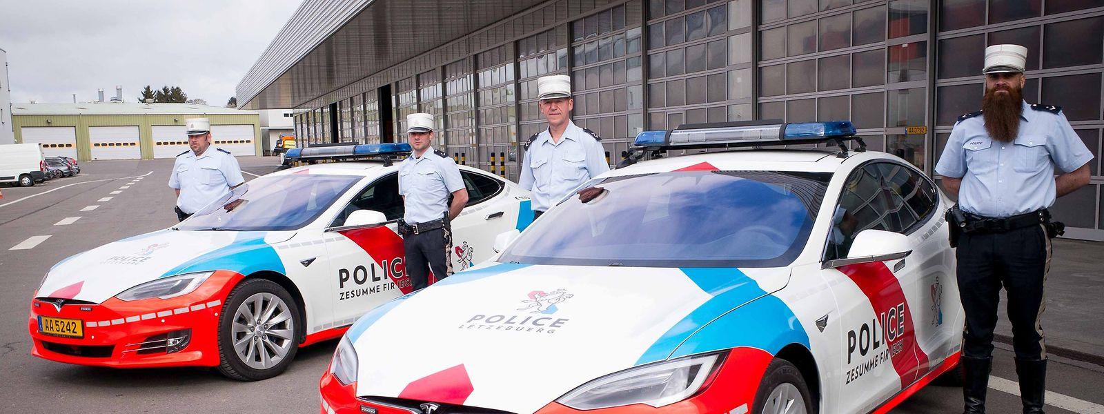 Die beiden Polizei-Teslas gehen seit April 2018 auf Patrouille.
