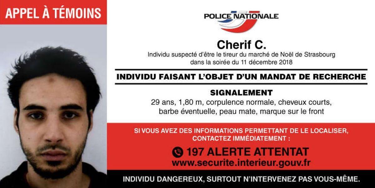 Der offizielle Fahndungsaufruf der französischen Polizei.