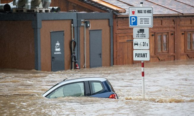 Parts of Luxembourg were hit by torrential flooding in mid-July