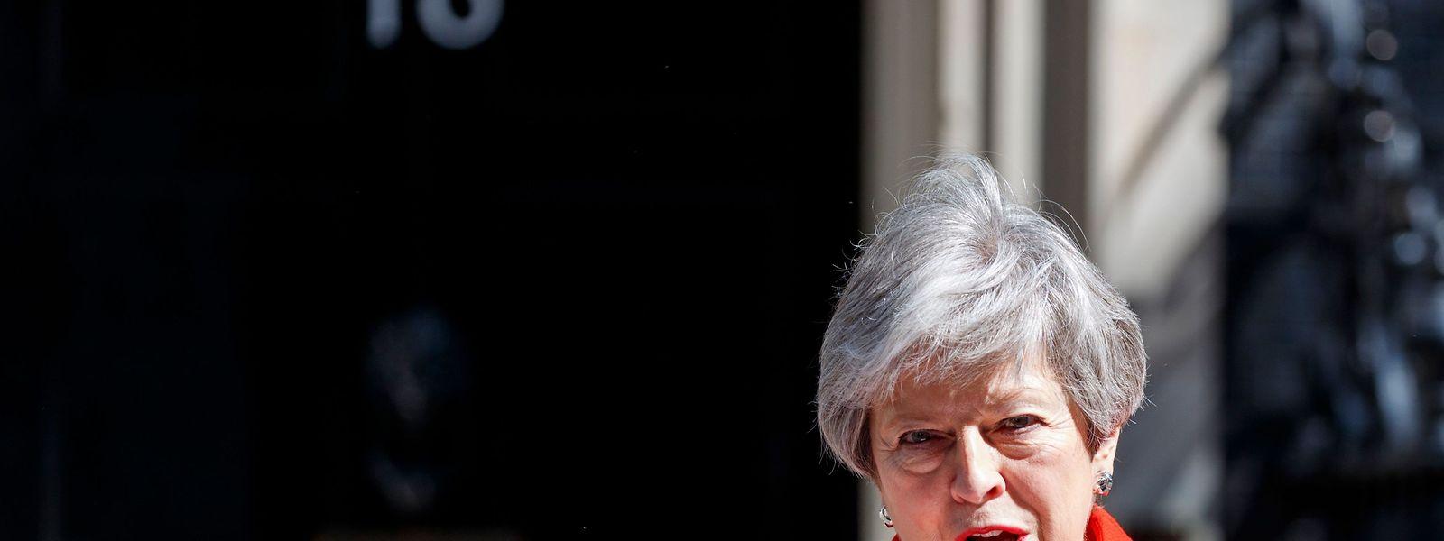 Die britische Premierministerin Theresa May kündigt ihren Rücktritt an.