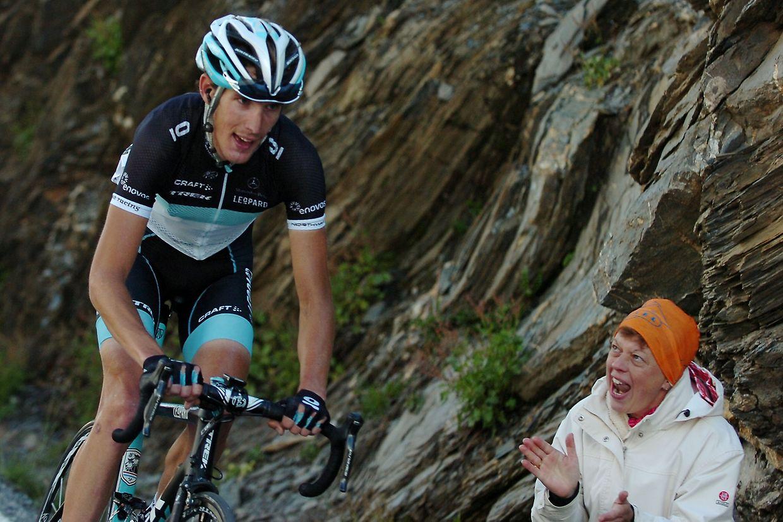 """""""Ich war motivierter als je zuvor."""" - Andy Schleck auf dem Weg zum Gipfel."""