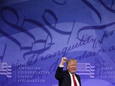 Donald Trump bei der konservativen Konferenz in Maryland.