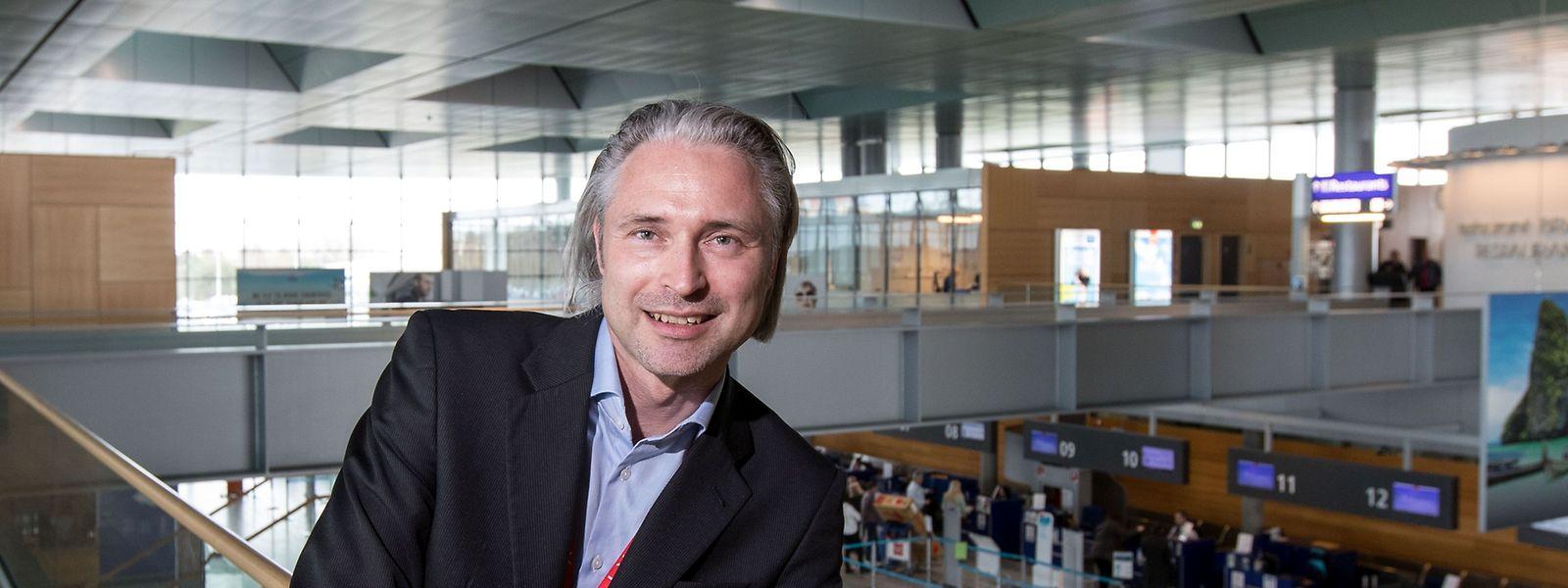 René Steinhaus ist seit knapp einem Monat Interims-CEO der Flughafengesellschaft lux-Airport.