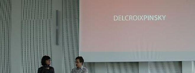 Stéphanie Delcroix und Michael Pinsky bei der Vorstellung ihres Projekts.