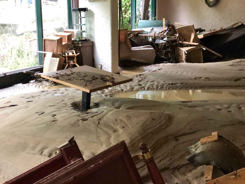 Das Hotel Le Cigalon in Müllerthal wurde schwer beschädigt.