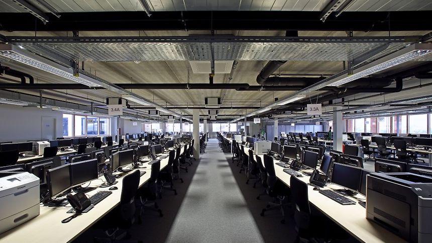 Im Notfallzentrum der BGL BNP Paribas finden bis zu 1200 Mitarbeiter Platz.