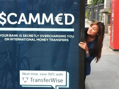 TransferWise clever bilboard advertising