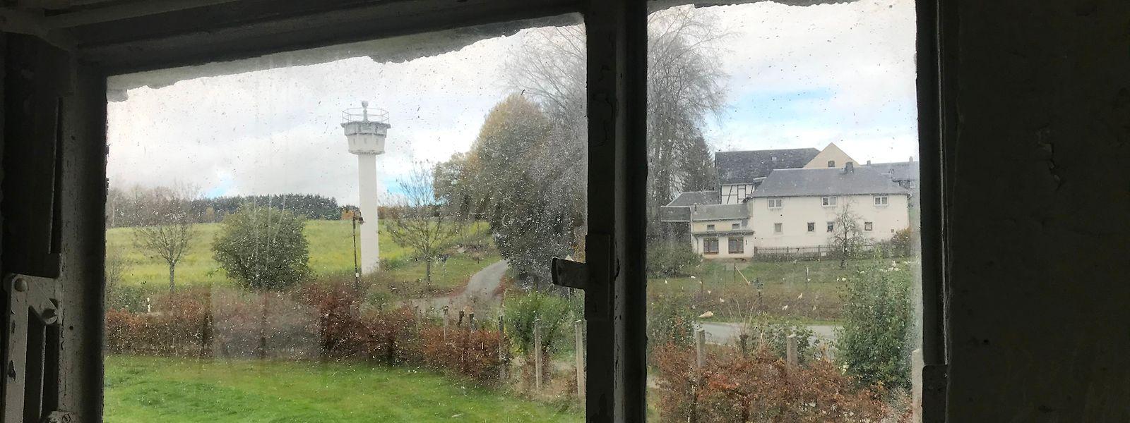 Als wäre die Zeit stehengeblieben: Blick aus dem Wachturm auf den Thüringer Dorfteil.