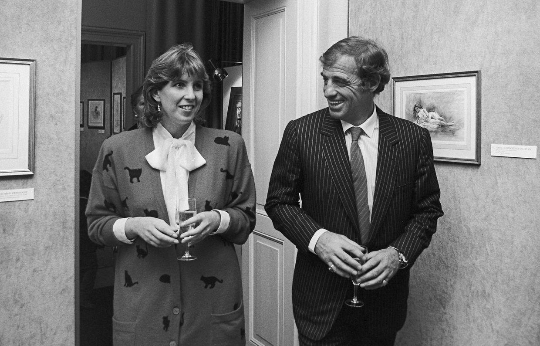 Elle avait 34 ans, lui 53 : l'unique rencontre entre Lydie Polfer et Jean-Paul Belmondo à l'occasion d'un vernissage à la Villa Vauban.