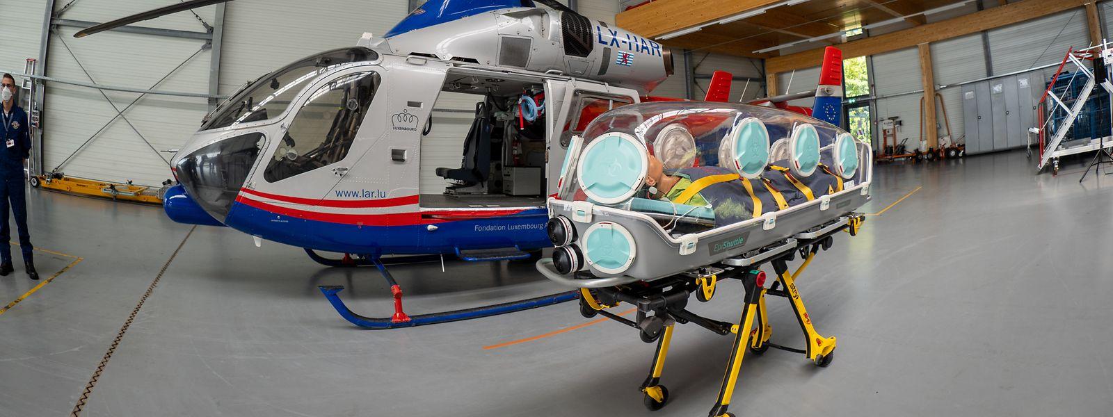 Die Isolationsliegen sollen eine Ansteckung derjenigen verhindern, die im direkten Kontakt mit den Patienten stehen.