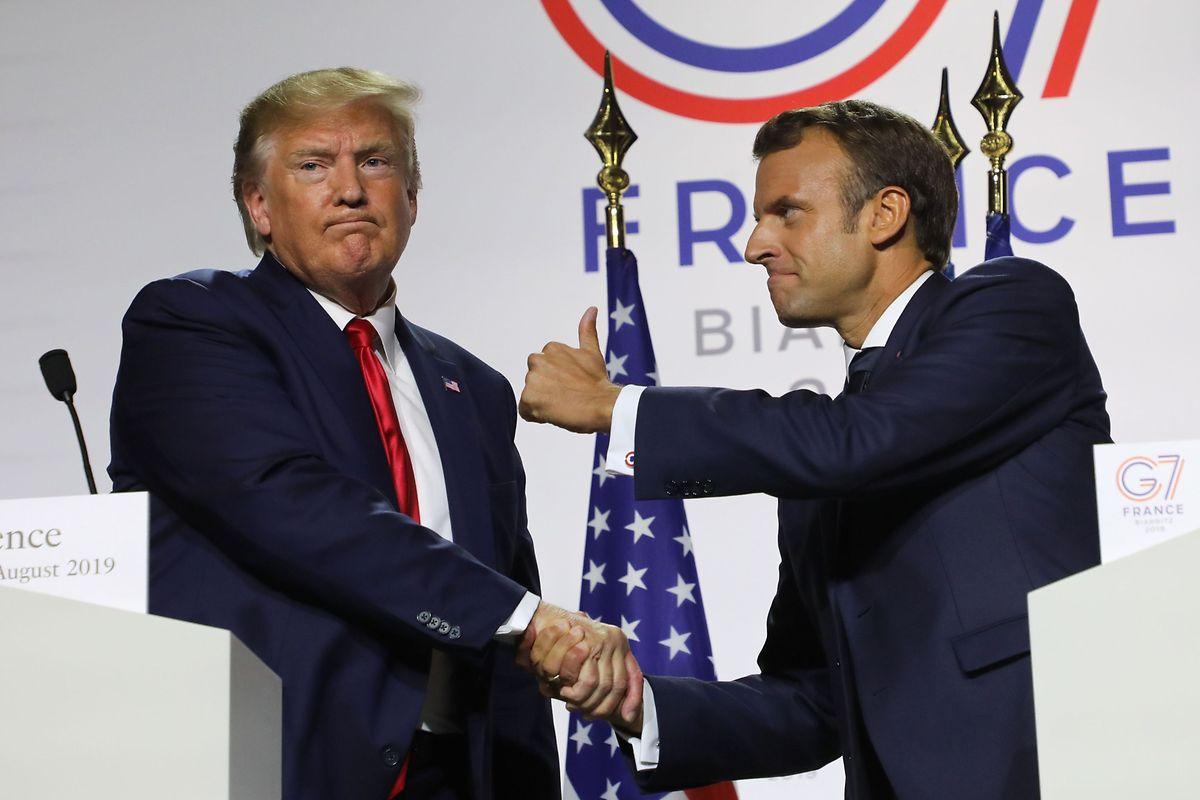 Donald Trump aux côtés d'Emmanuel Macron lors du G7 organisé à Biarritz fin août.