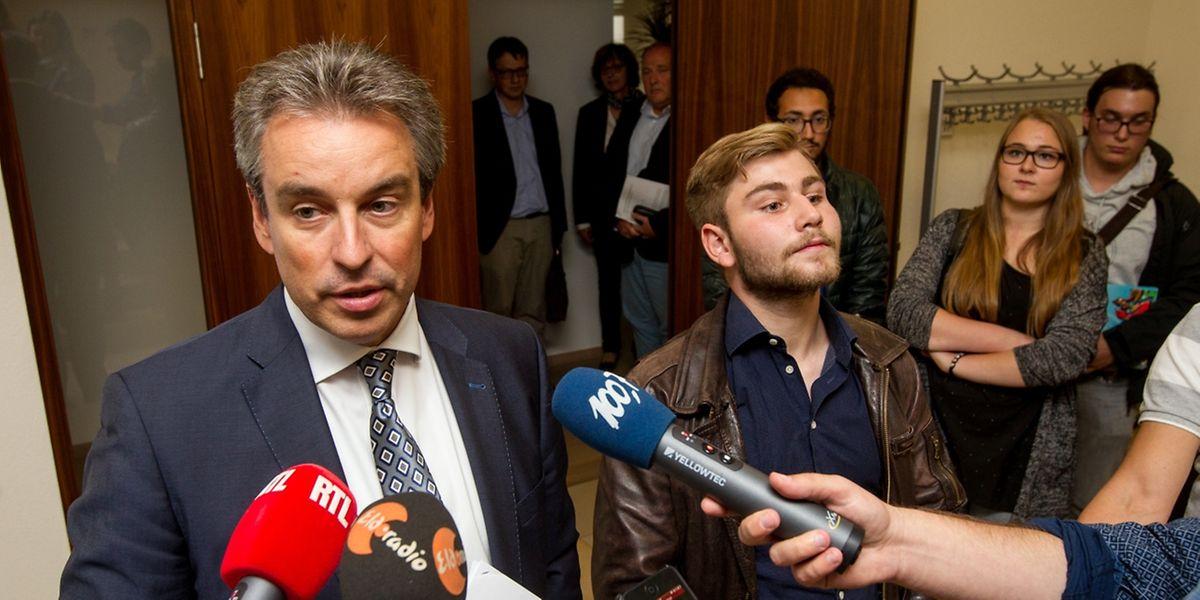 Le ministre de l'Education Claude Meisch et les représentants des élèves se sont félicités d'avoir trouvé cet accord.
