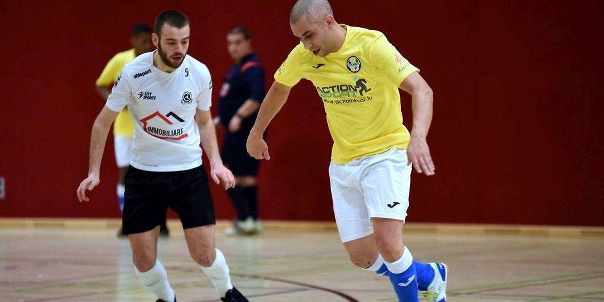 Ruben Samorinha et la Samba Seven Niederkorn n'ont rien pu faire face à l'efficacité de l'ALSS Futsal Münsbach de Patrick de Sousa.
