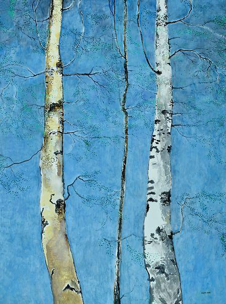 Birches, 2020, by Jean-Marie Biwer