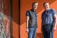 Lokales, Suivi Tornado mit Bürgermeister Käerjeng Michel Wolter und Schöffe Frank Pirrotte, Foto: Lex Kleren/Luxemburger Wort