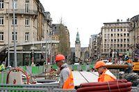Lokales, Tram-Baustelle im Bahnhofsviertel, Chris Karaba/Luxemburger WortLUX