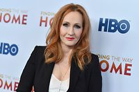 """(FILES) In this file photo taken on December 11, 2019 British author J. K. Rowling attends HBO's """"Finding The Way"""" world premiere at Hudson Yards in New York City. - """"Harry Potter"""" author JK Rowling revealed on June 10, 2020 she is a survivor of domestic abuse and sexual assault. The celebrated British writer said in a blog post that she was disclosing the information to give context to her controversial past comments about transgender women. (Photo by Angela Weiss / AFP)"""